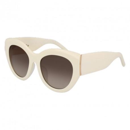369830d201 Estas gafas de la marca Pomellato son una clara representación de lo que se  va a llevar este verano. Son unas gafas con una montura grande en color  blanco y ...